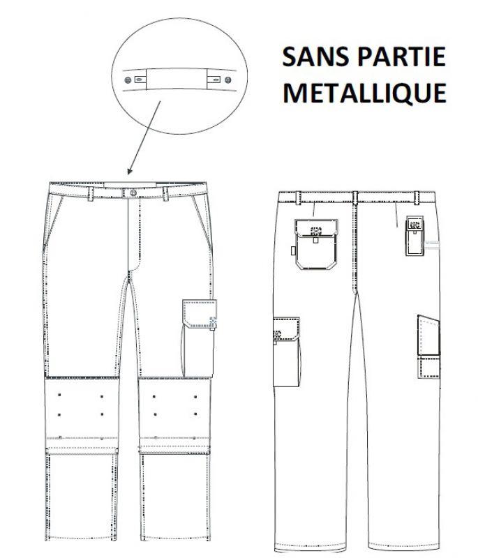 decc49a3e50 Pantalon Typhon avec poches genoux Cordura EN14404
